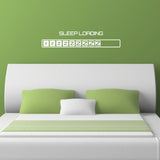 Sleep Loading Wall Sticker - White