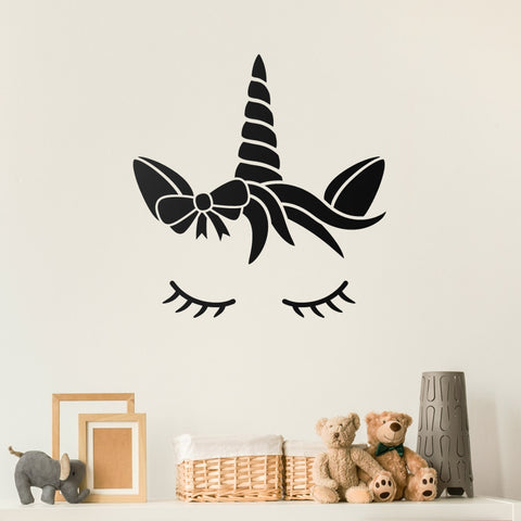 ZygoMax Sleeping Unicorn Wall Sticker - Black