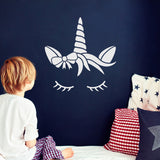ZygoMax Sleeping Unicorn Wall Sticker - White