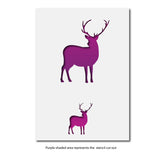 CraftStar Small Stag Craft Stencils Layout