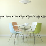 Spice Names Wall Sticker