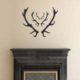 Stag Antler Wall Stickers - Black
