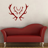 Stag Antler Wall Stickers - Red