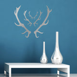 Stag Antler Wall Stickers - Silver