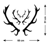 Stag Antler Wall Stickers - Size Guide