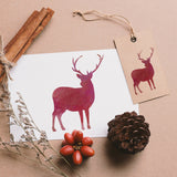 CraftStar Small Stag Craft Stencils on card