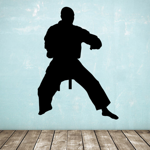 Standing Karate Wall Sticker