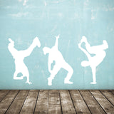 Street Dance Wall Stickers - Pack of 3 Dancers - White