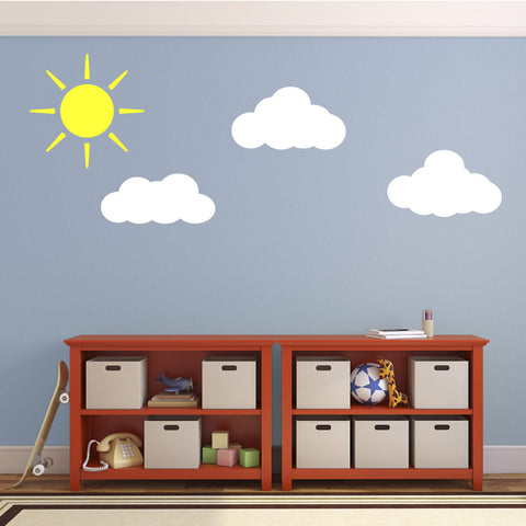 Sun and Clouds Nursery Wall Stickers
