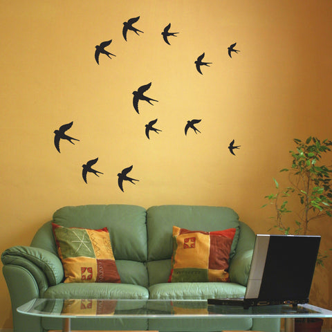 Swallow Wall Stickers - Black