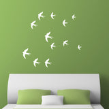 Swallow Wall Stickers - White
