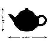 Teapot Tile Stickers - Pack of 18 - Size Guide