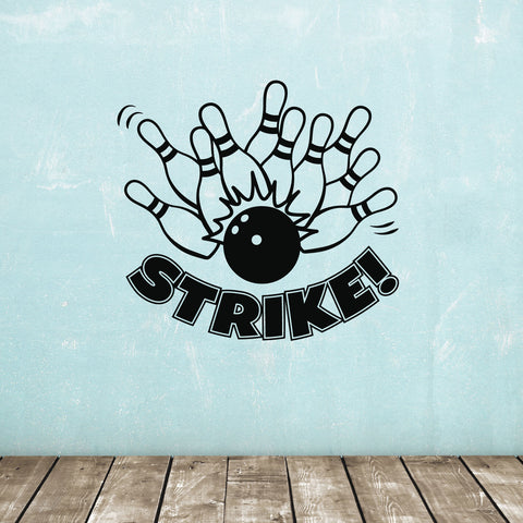 Ten Pin Bowling STRIKE Wall Sticker