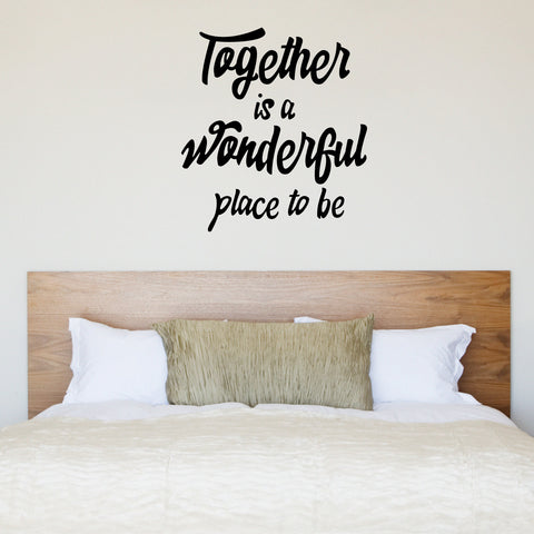 Together Is A Wonderful Place To Be Wall Sticker - Black