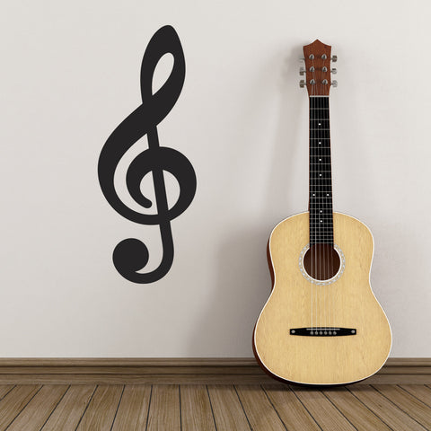 Treble Clef Wall Sticker - Black