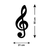 Treble Clef Wall Sticker - Size Guide
