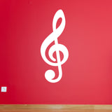 Treble Clef Wall Sticker - White
