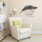 Psalm Wall Sticker - Religous Wall Sticker in Black