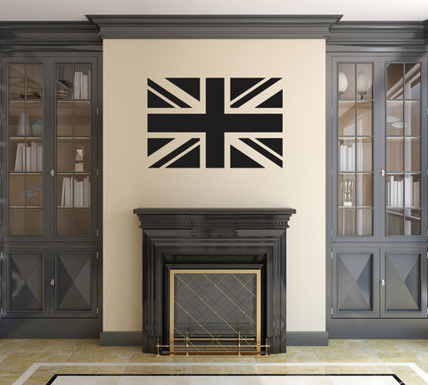 Union Jack Wall Sticker - Black Vinyl