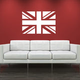 Union Jack Wall Sticker - White Vinyl