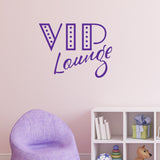 VIP Lounge Wall Sticker Purple