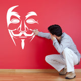 Anonymous Mask Wall Sticker - White