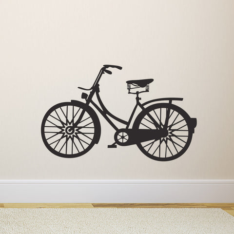 Vintage Bicycle Wall Sticker - Black