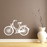 Vintage Bicycle Wall Sticker - White