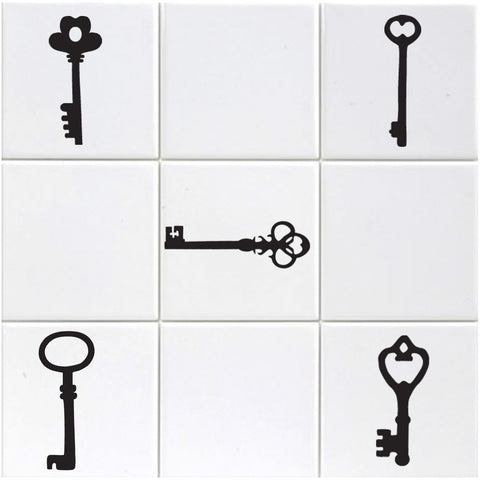 Vintage Key Tile Stickers