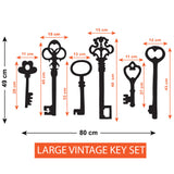 Vintage Key Wall Sticker Pack - Large