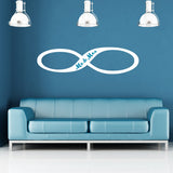 Infinity Wall Sticker - Mr and Mrs Edition - White