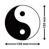 Yin-Yang Car Sticker - Size Guide