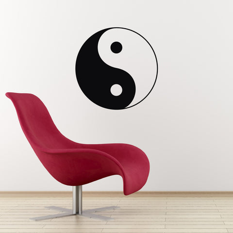 Yin-Yang Wall Sticker - Black