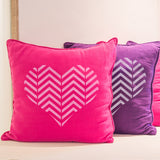 CraftStar Zig Zag Pattern Heart Stencil on cushions
