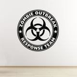 Zombie Outbreak Response Team Wall Sticker - Black