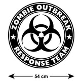 Zombie Outbreak Response Team Wall Sticker - Size Guide