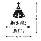 ZygoMax Adventure Awaits Wall Sticker Size Guide