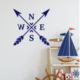 ZygoMax Compass Wall Sticker in Dark Blue