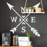 ZygoMax Compass Wall Sticker in white
