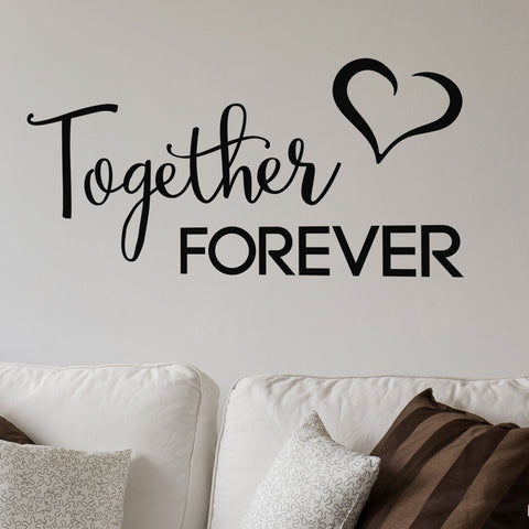ZygoMax Together Forever Wall Sticker - Black