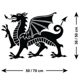 ZygoMax Welsh Dragon Wall Sticker Size Guide