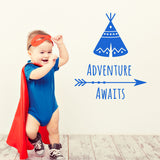 ZygoMax Adventure Awaits Wall Sticker in light blue