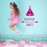 ZygoMax Adventure Awaits Wall Sticker in dark pink
