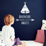ZygoMax Adventure Awaits Wall Sticker in white
