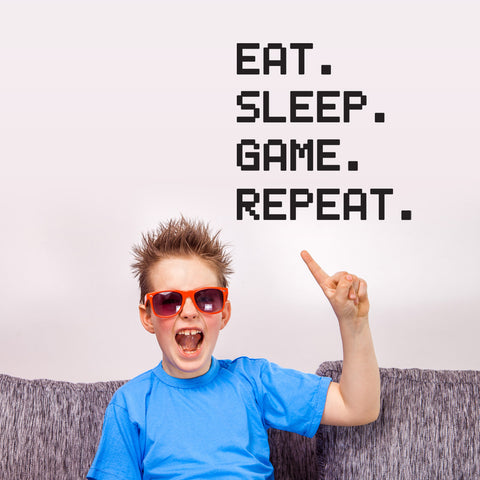 ZygoMax Eat Sleep Game Repeat Wall Sticker