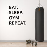 ZygoMax Eat Sleep Gym Repeat Wall Sticker