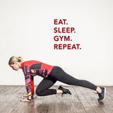 ZygoMax Eat Sleep Gym Repeat Wall Sticker in Red