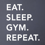 ZygoMax Eat Sleep Gym Repeat Wall Sticker - White