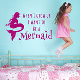 ZygoMax Mermaid Wall Sticker in dark pink