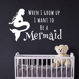 ZygoMax Mermaid Wall Sticker in white